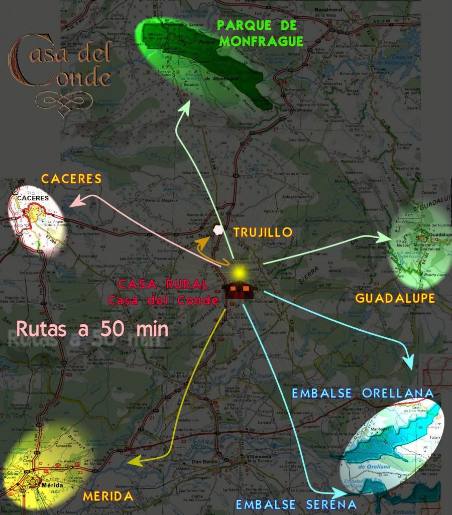 Mapa Rutas de Extremadura