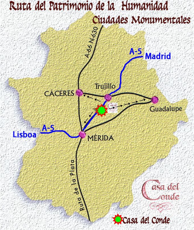 Rutas Patrimonio Humanidad de Extremadura